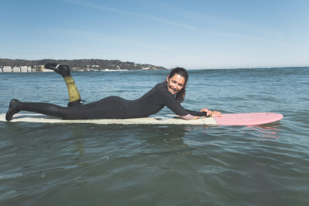 Winter surf Hendaye