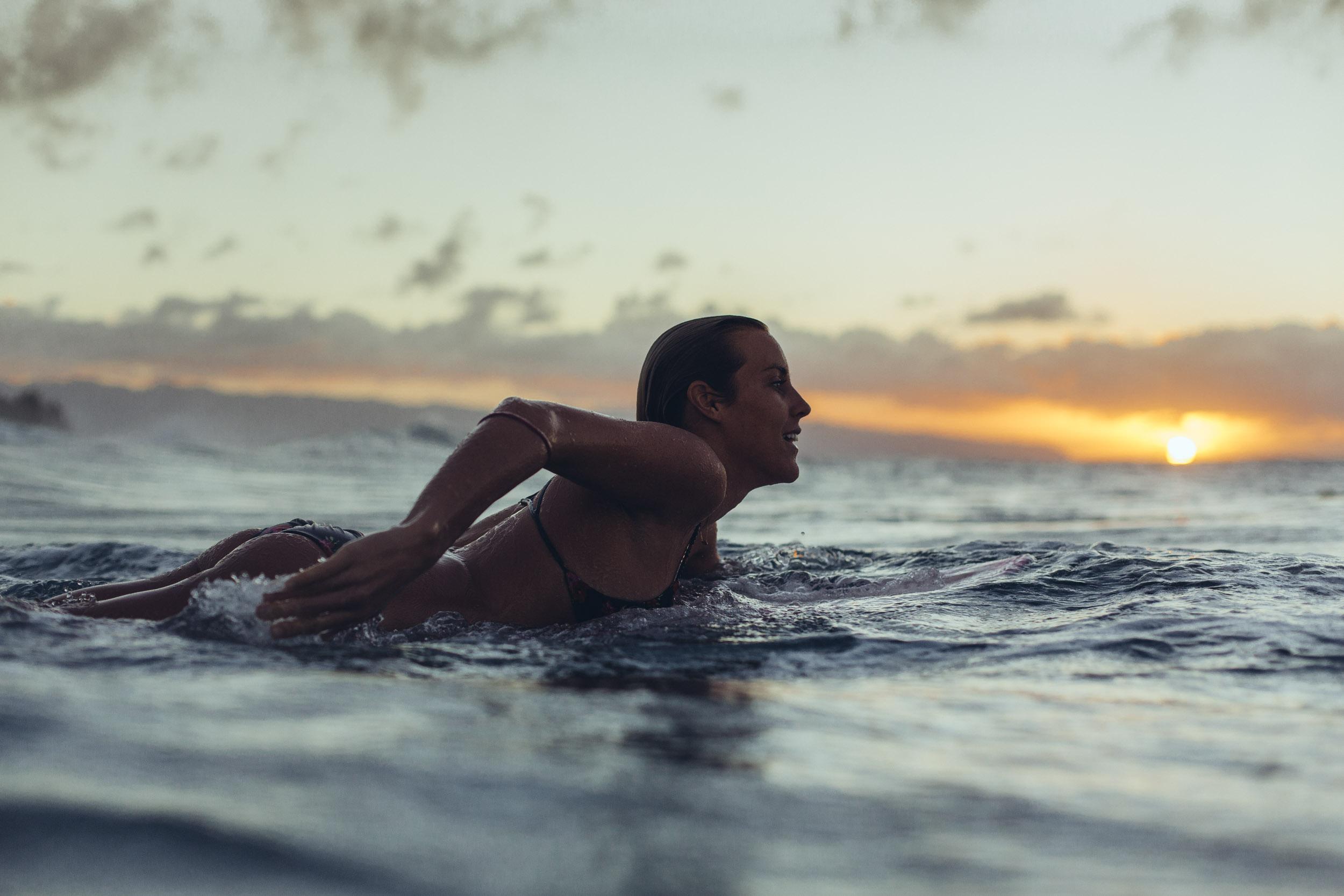 Leila Hurst paddling