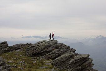 Randonnée hivernale dans le pays basque